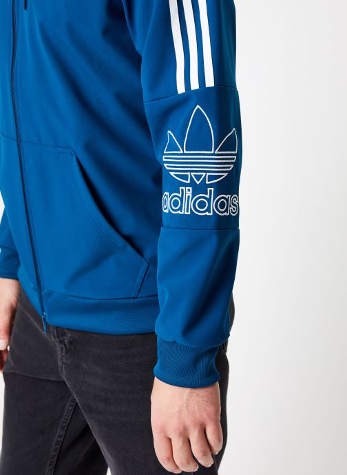 Vêtements adidas originals Outline Fz Hood Bleu vue face